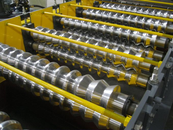 0.2mm Thickness Corrugation Sheet Metal Roll Forming Machines 72mm Shaft Diameter