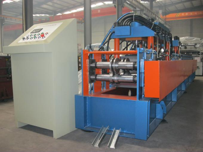 Metal 440V Stud and Track Roll Forming Machine Mitsubishi PLC , Plated With Chrome