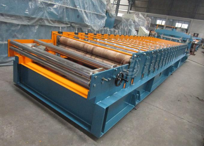 Cr12 Mould Steel Cutter Roof Tile Roll Forming Machine 5.5KW ISO9001