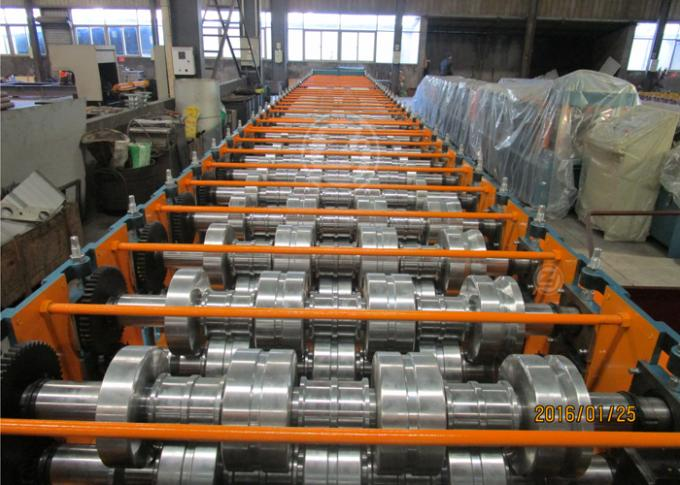 Metal Floor Decking Panel Corrugated Roll Forming Machine Thickness 0.8-1.2mm