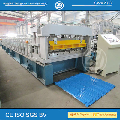 China High Speed Step Tile Roll Forming Machine with ISO Quality System , Roll Former Machine supplier