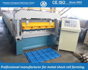 China High Speed Step Tile Roll Forming Machine with ISO Quality System , Automatic Roll Former Machine supplier