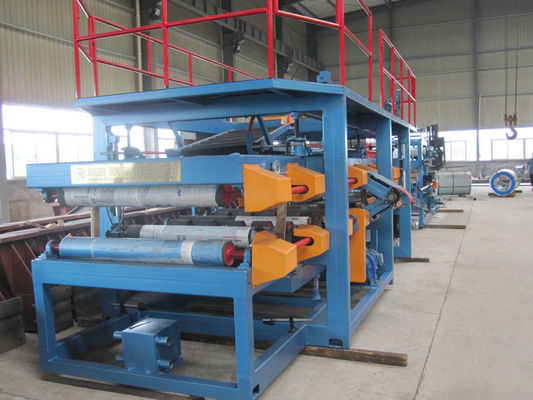 China 1250mm Width EPS Sandwich Panel Production Line 28Kw for Warehouse supplier