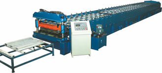 China 1219mm width Metal Deck Roll Forming Equipment with Automatic Cutting 440V supplier
