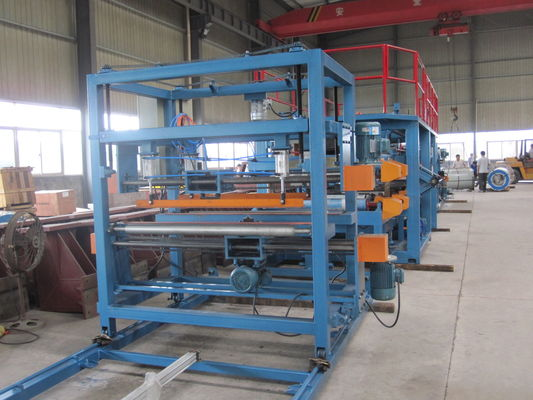 China 1250mm Width EPS Sandwich Panel Production Line 28Kw , Sandwich Panel Forming Machine supplier