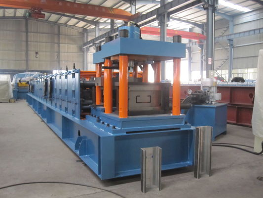 China Cold Roll C Purlin Roll Forming Machine , Roofing Sheet Making Machine supplier