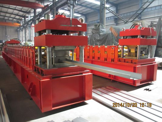 China Door Frame Metal Roll Forming Machine With Automatic Punching 3 - 5 m / min supplier