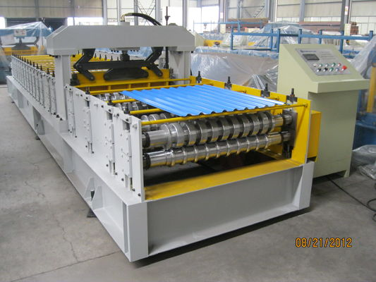 China European Standard Cold Roll Forming Equipment 914mm Width , Roll Forming Machinery supplier