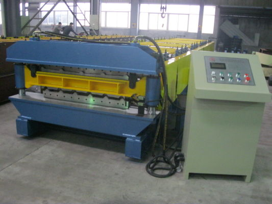 China High Speed Double Layer Roll Forming Machine Automatic Hydraulic Cutting supplier