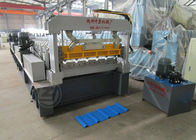 China Gear Drive Roofing Sheet Roll Forming Machine High Forming Machine 30-35 m / min factory