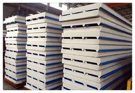 China Fireproof Color Coated Steel PU Sandwich Panel / Insulation Wall Panels factory