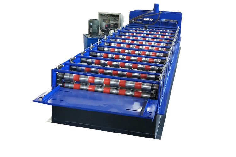 5.5kw 12m Min Aluminium Panel Roof Tile Roll Forming Machine