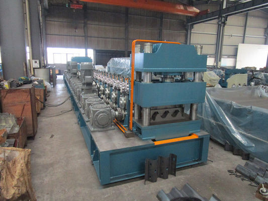Mitsubishi PLC Metal Guardrail Cold Roll Forming Machine with ISO9001 Quality System