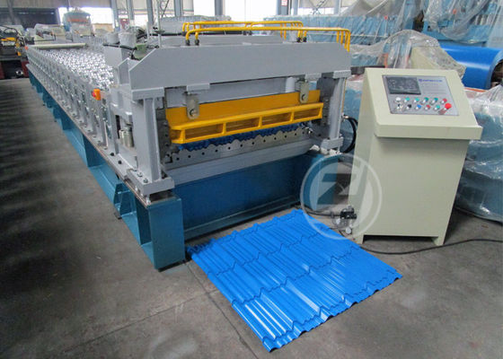 China Customized Roof Tile Roll Forming Machine Mitsubishi PLC , Roof Tile Making Machine factory