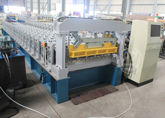 Ghana 1200MM Steel Structure Metal Roof Roll Forming Machine Mitsubishi PLC
