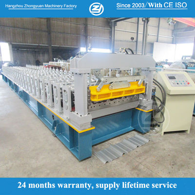 40mm Wall Plate Hydraulic Press Roof Panel Roll Forming Machine Weight About 10Tons