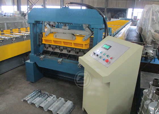 No.45 Steel Construction Floor Metal Deck Roll Forming Machine Mitsubishi PLC