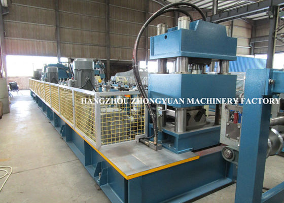 Two Waves Highway Guardrail Cold Roll Forming Machine HRC58-60 hardness