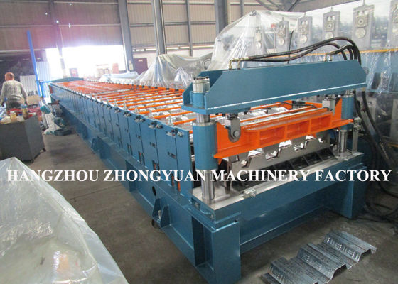 440V Decking Roll Forming Machine Sheet Metal Machine 82mm dia.solid steel