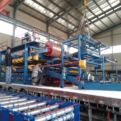 Automatic Rock Wool Sandwich Panel Machine Line