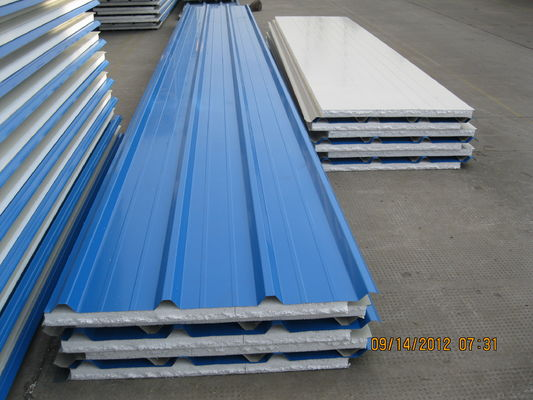 EPS Sandwich Insulation Panels For Factory Buildings , Polystyrene Foam Board