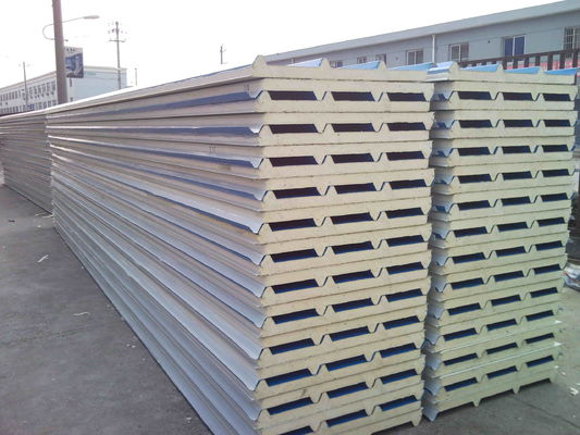 Waterproof  Polyurethane Roof Sandwich Panel Color Steel Sheet
