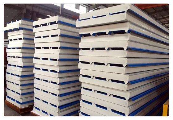 Fireproof Color Coated Steel PU Sandwich Panel / Insulation Wall Panels