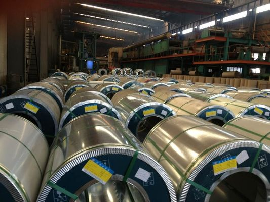 China Galvanized ISO9001 Steel Coil 508 / 610mm / Steel Sheet Coil factory