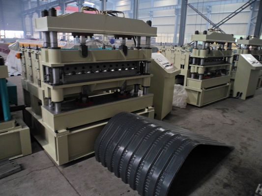 China Crimping Metal Roofing Roll Forming Machine Cr12 mould steel factory