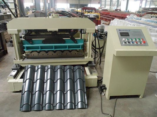 China High Precision Roof Tile Roll Forming Machine Heat Treatment factory