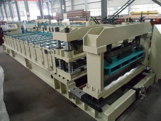 China Steel Rollers Step Tile Roll Forming Machine Automatic for Metal Tile factory